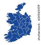 map of ireland | Shutterstock .eps vector #634565459