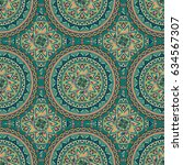 ornate floral seamless texture  ... | Shutterstock .eps vector #634567307