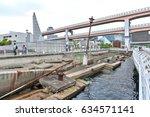 kobe  japan   april 2016  ruins ... | Shutterstock . vector #634571141