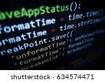 software source code.... | Shutterstock . vector #634574471