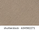 recycled brown corrugated... | Shutterstock . vector #634582271