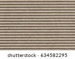 recycled brown corrugated... | Shutterstock . vector #634582295