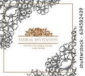 romantic invitation. wedding ... | Shutterstock . vector #634582439