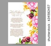 romantic invitation. wedding ... | Shutterstock . vector #634582457