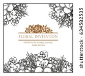 romantic invitation. wedding ... | Shutterstock .eps vector #634582535