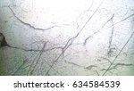 broken and cracked matt glass ... | Shutterstock . vector #634584539