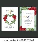 wedding invitation card   Shutterstock .eps vector #634587761