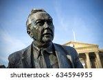 ian walter's statue of former... | Shutterstock . vector #634594955