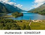 glenfinnan monument in loch... | Shutterstock . vector #634600169
