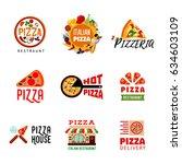 light italian food restaurant... | Shutterstock .eps vector #634603109
