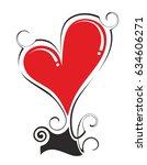 decorative heart element made...   Shutterstock . vector #634606271