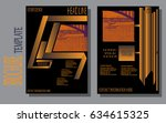 design a brochure template ... | Shutterstock .eps vector #634615325