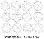 set of 3d objects from... | Shutterstock .eps vector #634615769