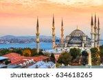 the blue mosque   sultanahmet...   Shutterstock . vector #634618265