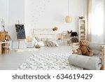 kid's stylish modern bedroom... | Shutterstock . vector #634619429