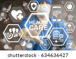 health care innovative... | Shutterstock . vector #634636427