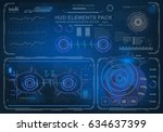 futuristic virtual graphic...   Shutterstock .eps vector #634637399