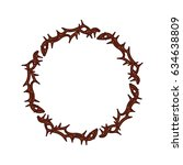 crown of thorns icon | Shutterstock .eps vector #634638809