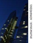 skyscrapers at night | Shutterstock . vector #634640261