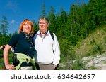 hiking seniors | Shutterstock . vector #634642697