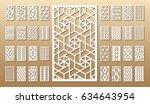 33 vector panels. cutout... | Shutterstock .eps vector #634643954