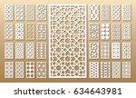 33 vector panels. cutout... | Shutterstock .eps vector #634643981