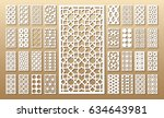 die cut card. laser cut 33... | Shutterstock .eps vector #634643981