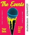 gig poster template | Shutterstock .eps vector #634644929