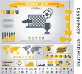 soccer  football infographics... | Shutterstock .eps vector #634648991
