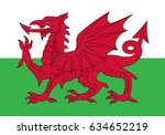 eps 10 vector wales state flag. ...   Shutterstock .eps vector #634652219