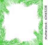 green christmas tree branch... | Shutterstock . vector #63465238