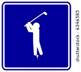 playing golf sign | Shutterstock .eps vector #6346585