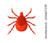 mite insect vector illustration ... | Shutterstock .eps vector #634667159