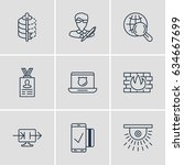 vector illustration of 9... | Shutterstock .eps vector #634667699