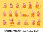 set kit collection sticker... | Shutterstock .eps vector #634669169