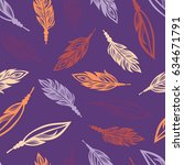 seamless pattern with colored... | Shutterstock .eps vector #634671791