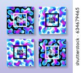 abstract poster with colorful... | Shutterstock .eps vector #634679465