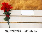 a park bench with a plate ready ... | Shutterstock . vector #63468736