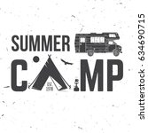 summer camp. vector... | Shutterstock .eps vector #634690715