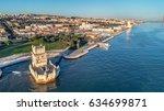 aerial panorama of belem tower... | Shutterstock . vector #634699871