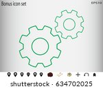gear  icon  vector illustration ... | Shutterstock .eps vector #634702025