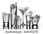 five vodka drinks on glass... | Shutterstock . vector #63470278
