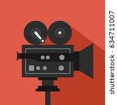 camera. flat design. vector... | Shutterstock .eps vector #634711007