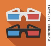 3d glass icon. flat design.... | Shutterstock .eps vector #634711061