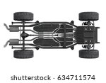 chassis frame dirt underbody ... | Shutterstock . vector #634711574