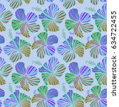 vector seamless pattern of... | Shutterstock .eps vector #634722455