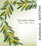 green olives background.... | Shutterstock .eps vector #63472954