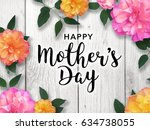 mother's day graphic | Shutterstock . vector #634738055