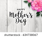 mother's day graphic with... | Shutterstock . vector #634738067