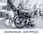 blurred movement disabled on a... | Shutterstock . vector #634749221